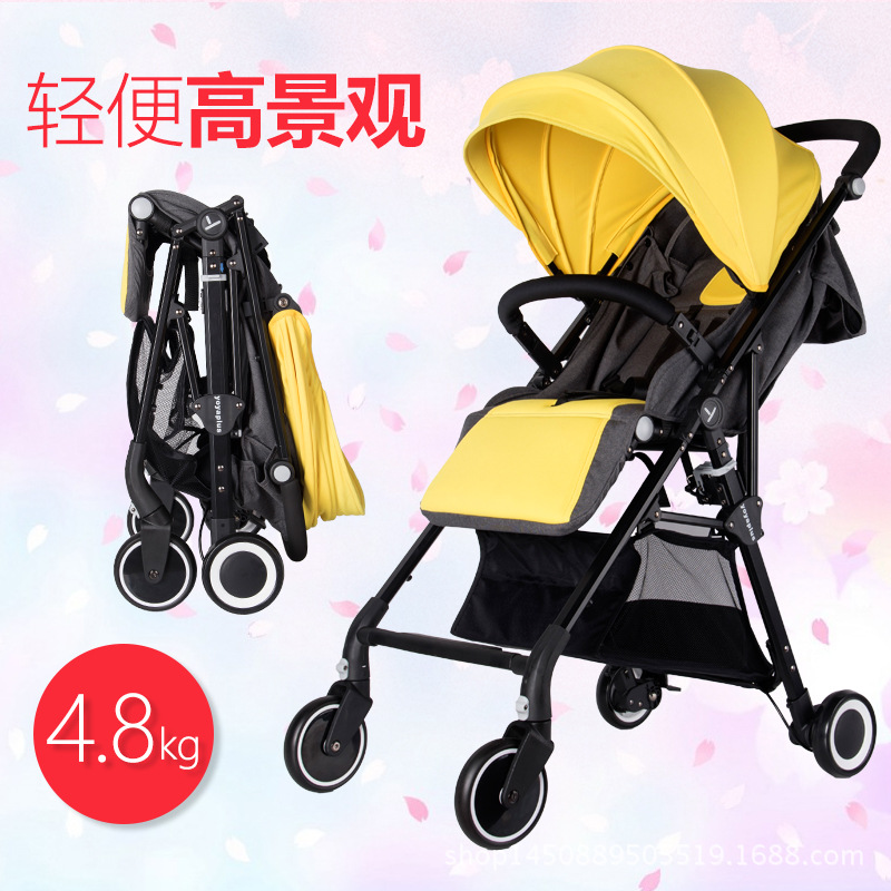 YOYA PLUS baby strollers ultra-lightweight folding can sit can lie high landscape can Combined twin baby stroller free shippin