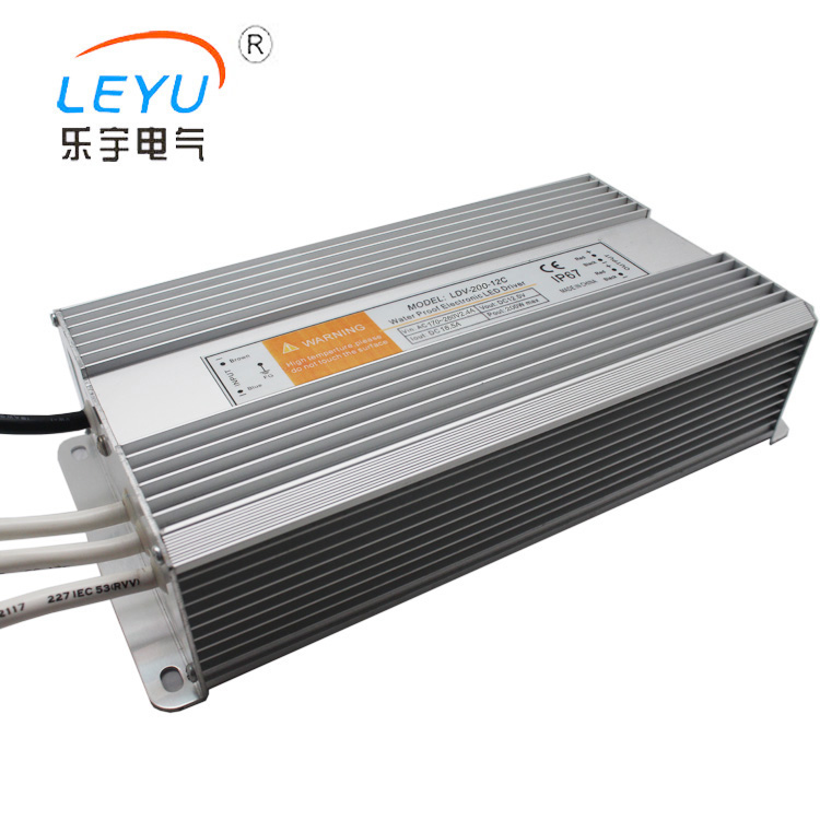 LEYU LDV-200 series waterproof rainproof ac dc 5v 12v 24v 36v 48v LED Driver power supply leyu brand ce fast delivery 40w 24v dc