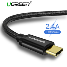Ugreen Nylon USB Type C Cable for Samsung S9 S8 USB Fast Charging Data Cable for Xiaomi Mi6 Huawei Nexus 6P USB Type-C USB Cord