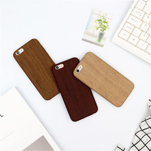 Suitable For Iphone 6 6s 7 8 X Plus Xr Simple Wood Mobile Phone Case 4.0 / 4.7 5.5 5.8 Inches
