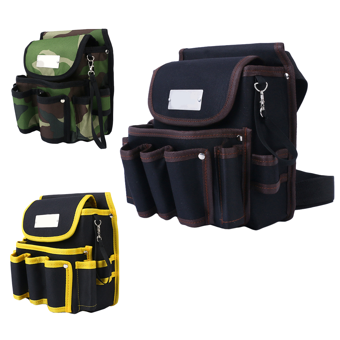Canvas Hardware Toolkit Pocket Pouch 600D Water Proof Cloth Rivet Fixed Tool Bag Belt Utility Kit