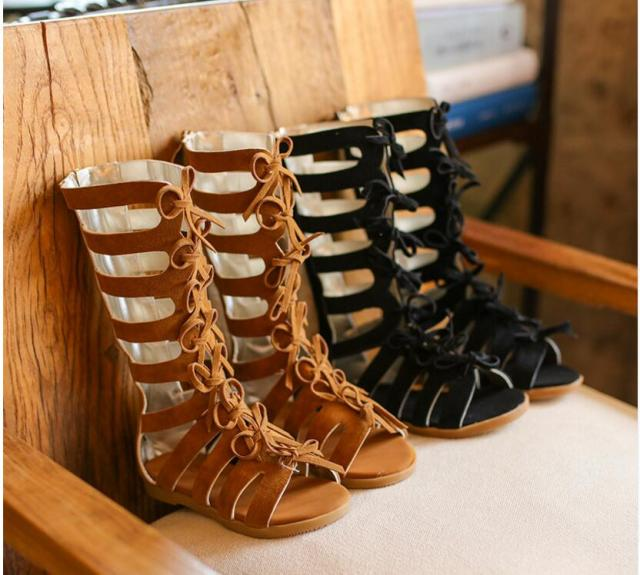 2f3f2a0758cd 2019 New High Quality High-top Summer boots fashion Roman girls sandals  kids gladiator sandals toddler baby sandals girls shoes