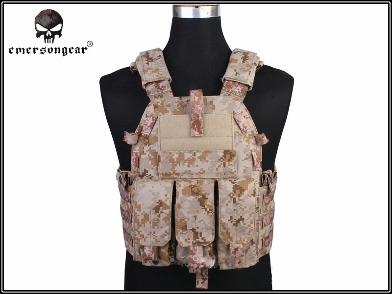 Emersongear Hunting Tactical Vest Airsoft Combat 094K M4 Pouch Vest Gear Plate Carrier EM7356D AOR1