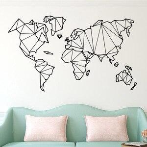 Large Size Geometric World Map