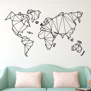 Large Size Geometric World Map
