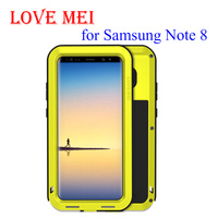 LOVEMEI Powerful For Samsung Galaxy Note 8 LOVE MEI Extreme Powerful Life Waterproof Dropproof Metal Case