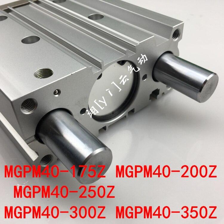 MGPM40-175Z MGPM40-200Z MGPM40-250Z MGPM40-300Z MGPM40-350Z MGPL Pneumatic components Thin three Rod Guide Pneumatic Cylinder компрессор аллигатор al 300z