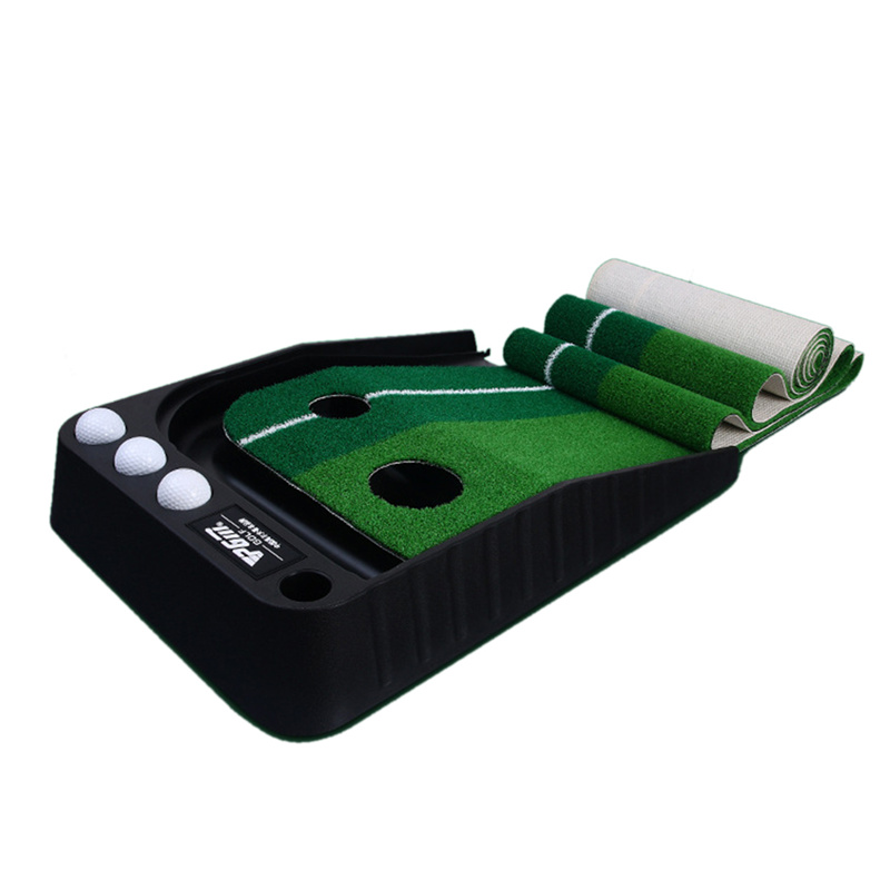 Indoor Golf Putting Trainer Portable Golf Practice Putting Mat Golf Green Putter Trainer 2.5M/3M with/without Return Fairway simulation mini golf course display toy set with golf club ball flag