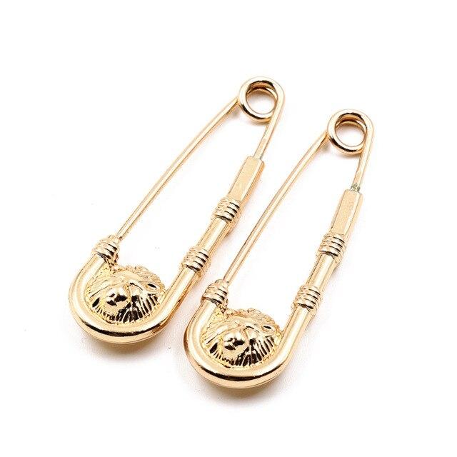 Mdiger Großhandel Brosche Label Pins Metall Lion Kopf Pin Brosche für Männer Legierung Broschen Männer Anzüge Zubehör Gemischt 10 teile/los