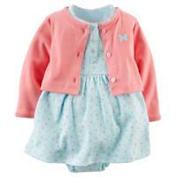 2016 Brand Girls Spring Summer Set Cotton Romper Dress Baby Girl Infants Cardigan Jacket Long Sleeve