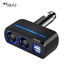 цена на Fiuzd 3.1A Dual USB Car Charger for iPhone Samsung Xiaomi Fast Charging Cigarette Ignition 40W Extension Adapter for redmi k20 9