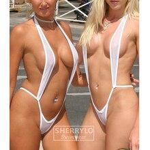 64d7fae647d Extreme See Though Micro Monokini Bikini Set Slingshot Beach Sunbath Swim  Lingerie Custome Swimwear Female Women