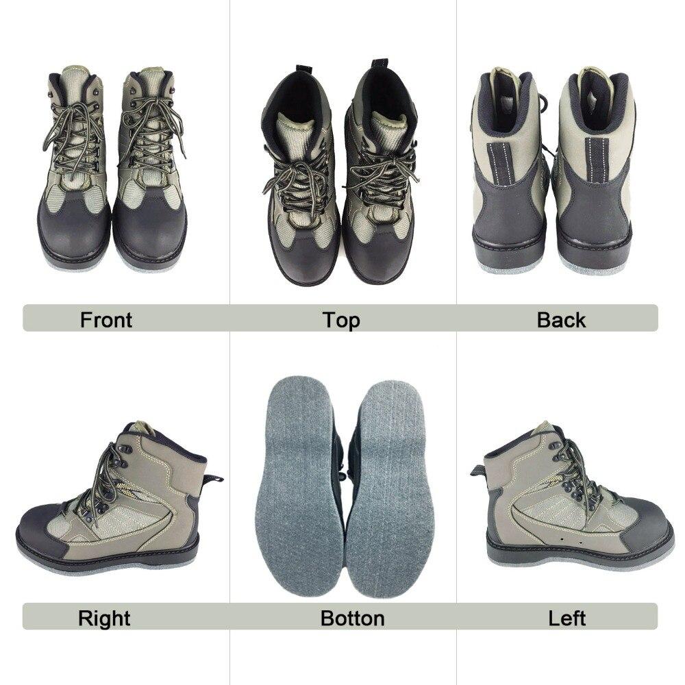 Pêche à la mouche Wading chaussures & pantalons Aqua Sneakers ensemble de vêtements respirant Rock Sports cuissardes feutre semelle bottes chasse No-slip Fish - 3