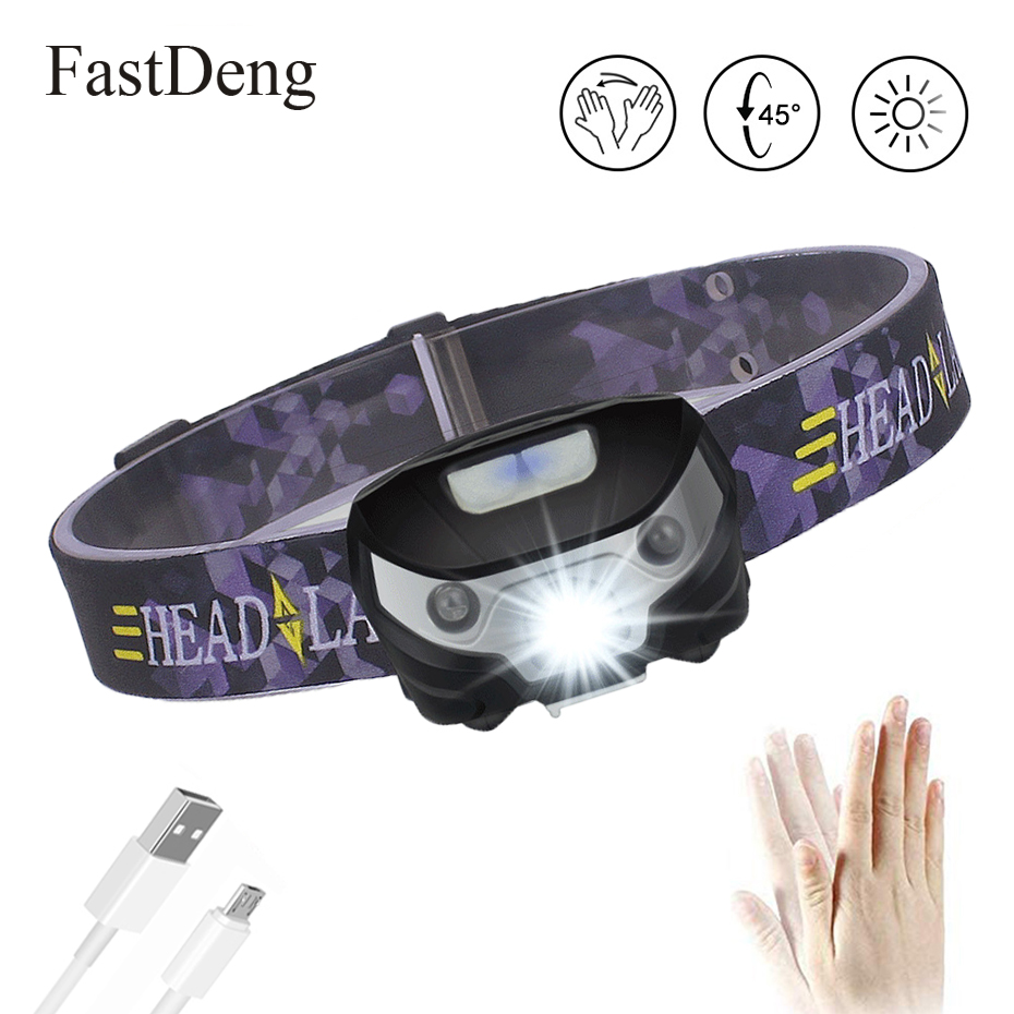 3000LM Mini Rechargeable LED HeadLamp Body Motion Sensor LED Bicycle Head Light Lamp Outdoor Camping Flashlight With USB3000LM Mini Rechargeable LED HeadLamp Body Motion Sensor LED Bicycle Head Light Lamp Outdoor Camping Flashlight With USB