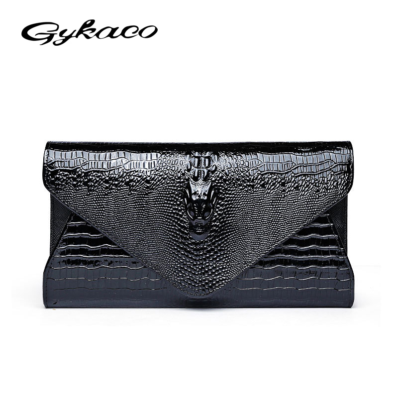 Gykaeo Brand 2017 Winter Crocodile Pattern Women's Crossbody Bag Female Large Capacity Party Evening Day Clutches Shoulder Bags