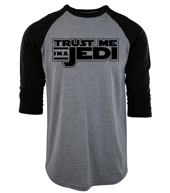 """Star Wars T shirts Print """"Trust Me I'm a Jedi"""""""