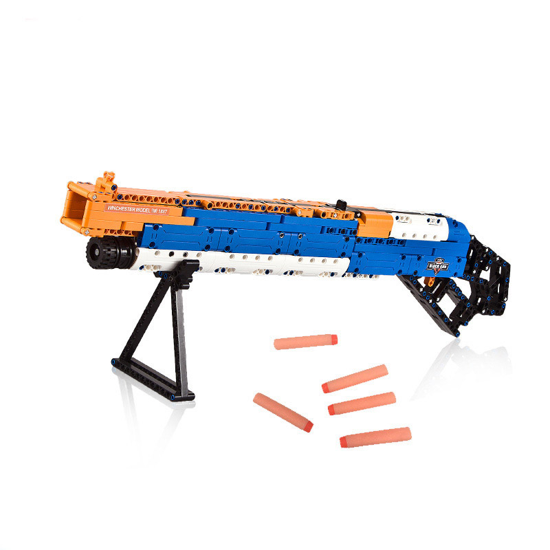 Pistol AK47 M1A1 MP5 Desert Eagle military Sets Technology creative assembly model building block toy gift in Blocks from Toys Hobbies