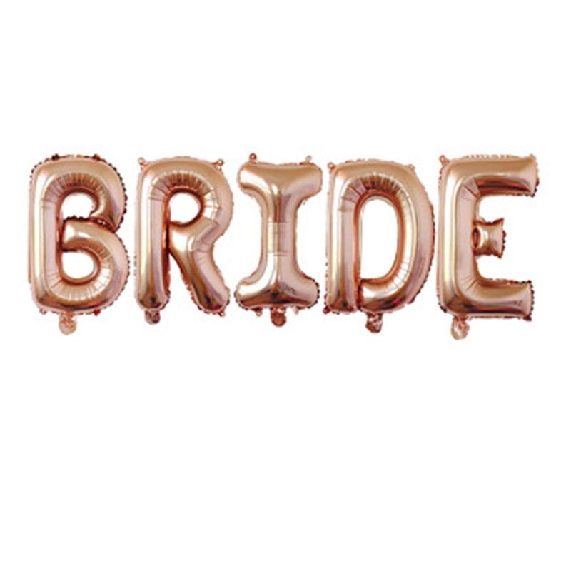 32-дюймовые розовые золотые буквы невесты из фольги