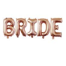 Balões laminados de alumínio rosa dourado, balões de letras para decoração de noiva, casamento, festa de casamento, 32 polegadas