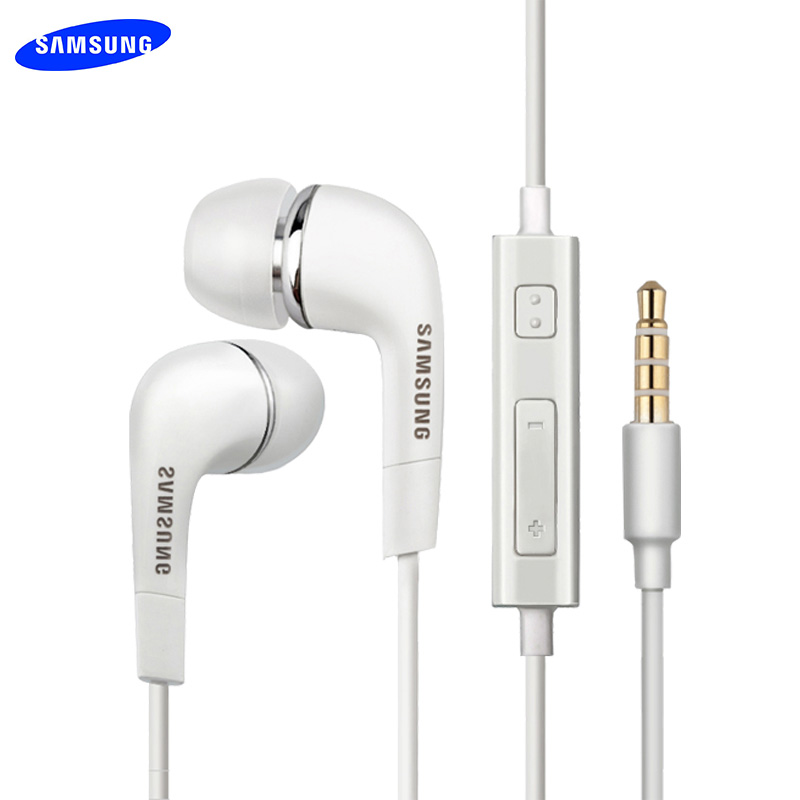Original Samsung Earphone Bass Earbud Mic/Volume Control For Galaxy S6 S7 Edge S8 S9 S10 Plus J4 J6 A3 A5 A7 A10 A30 A50 A70 M30-in Phone Earphones & Headphones from Consumer Electronics