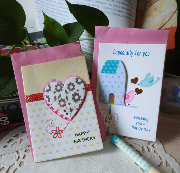 Aliexpress Buy 12pcslot Creative Love Heart Greeting Cards – Creative Birthday Card Messages