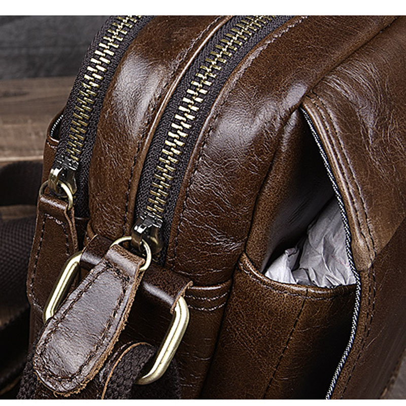 Freizeit Vertikalschnitt Einfache Neue 1 Tasche Schultertasche Umhängetasche Leder Retro Paket Aetoo Männer zwOIPXnwq