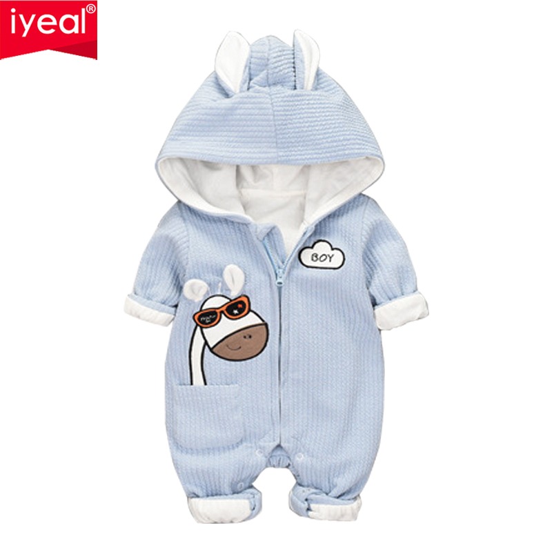 IYEAL Newborn Infant Baby Boy Girl Clothes Giraffe Pattern Cotton Hooded Long Sleeve Romper Kids Toddler Clothing Xmas Outfits newborn infant girl boy long sleeve romper floral deer pants baby coming home outfits set clothes