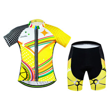 2016 Comfortable Team Mens Polyester Cycling Jersey Shorts Set Bike Clothing Sports Wear