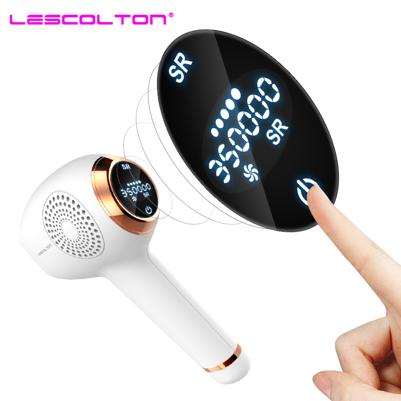 New Lescolton 350000times 2in1 IPL Epilator laser Hair Removal LCD Display Machine Permanent Bikini Trimmer Electric depilador in Epilators from Home Appliances