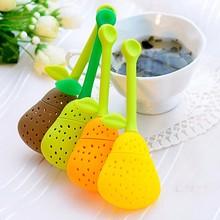 Random 1 Piece Pear Shape Tea Strainer Reusable Strainer Teaspoon Kitchen Tea Ball Tea Infuser Silicone цена