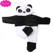 New doll dress panda suit fit 18 inch Girl dolls girl and 43 cm baby clothing accessories c738