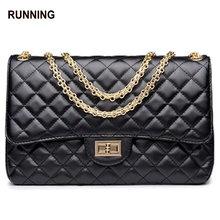 Small plaid genuine leather chain bag fashion sheepskin shoulder bag cross-body bag small