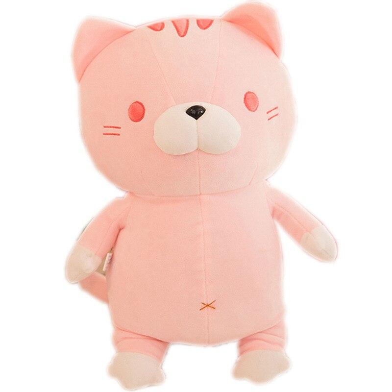 Stuffed animals plush soft kawaii smile plush cat feather cotton soft rice ball cat doll stuffed pillow girlfriend gift 50cm