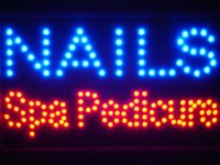 Led097-b Nails Spa Pedicure Led Neon Sign WhiteBoard Groothandel Dropshipping
