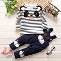 Autumn winter Baby Girl Winter sets Cloth Sleeved Newborn Clothes lovely cowboy Rompers  cartoon bear Cute red Princess active30