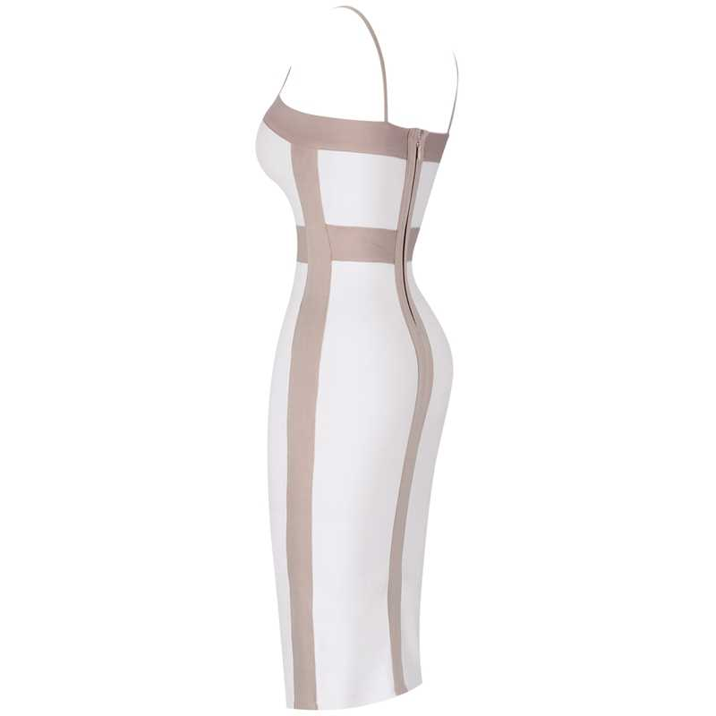 Ocstrade femmes robe Bandage 2019 nouvel an mode nu et blanc robe de pansement Sexy Club fête grande taille robe de pansement moulante
