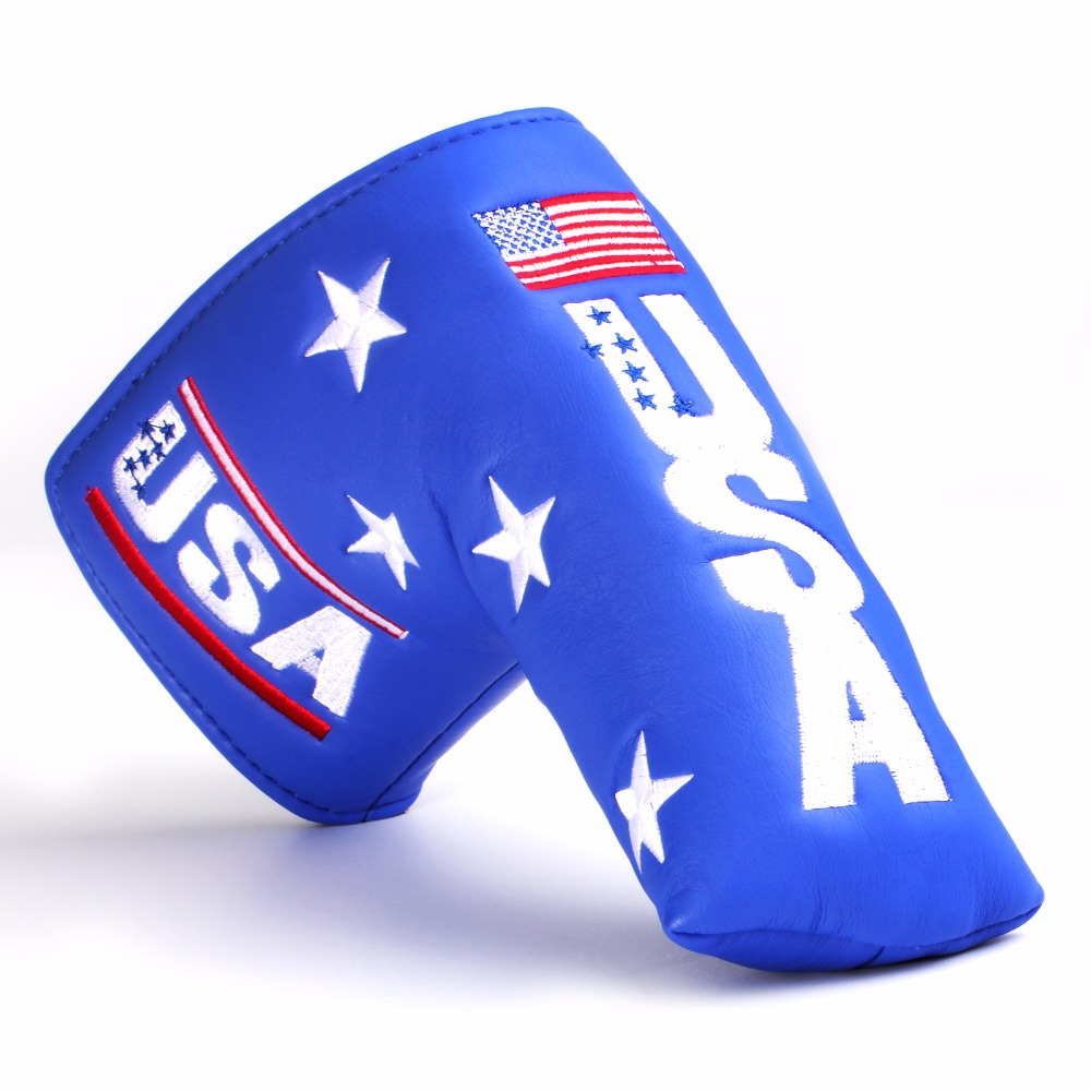Golf Shield Cover Headcover Fit For Blade Putter + Closure Synthetic Pu Leather FREE SHIPPING