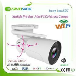 H.265 Starlight Audio in Outdoor 5X Zoom Pallottola Senza Fili del IP PTZ Telecamera di Rete Wi fi Camara CCTV wifi Telecamera di Sicurezza onvif