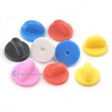 34aec567415c 60/150/500 Pcs Rubber Lapel Pin Hat Tie Tacks Back Holder Clutch Clasp  Sports Jewelry DIY Craft