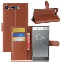 10 Pcs Lot Wallet PU Leather Case Cover Flip Protective Phone Back Shell For Sony Xperia