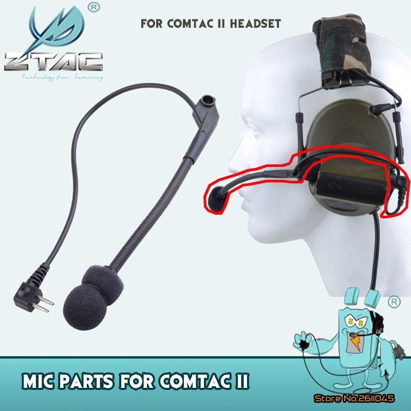 Z Tac Peltor Tactical Headohone микрофон с шумоподавлением Comtac II аксессуар для гарнитуры микрофон часть MicrophoneZ040-0