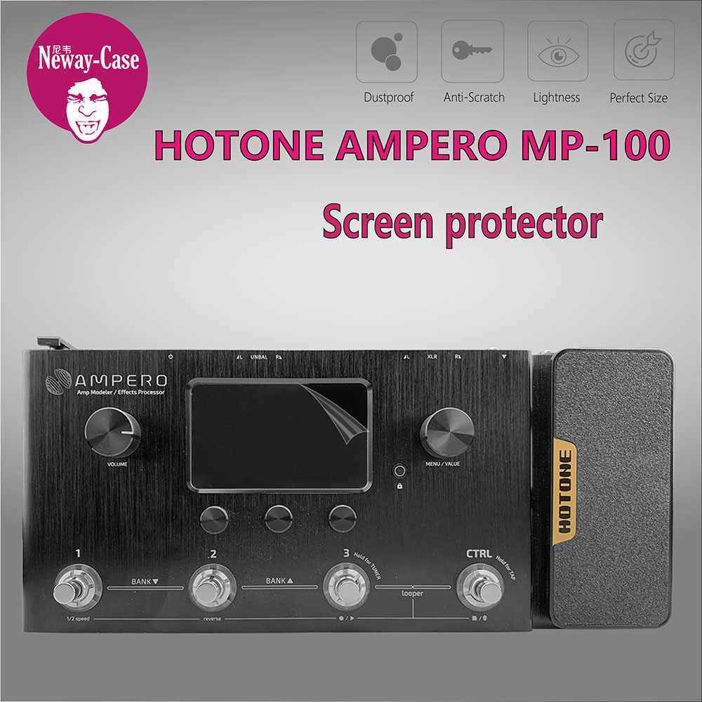Neway-Case Guitar Multi Effect Protector Film for HOTONE AMPERO MP-100  Electric Guitar Pedal Effects Accessories