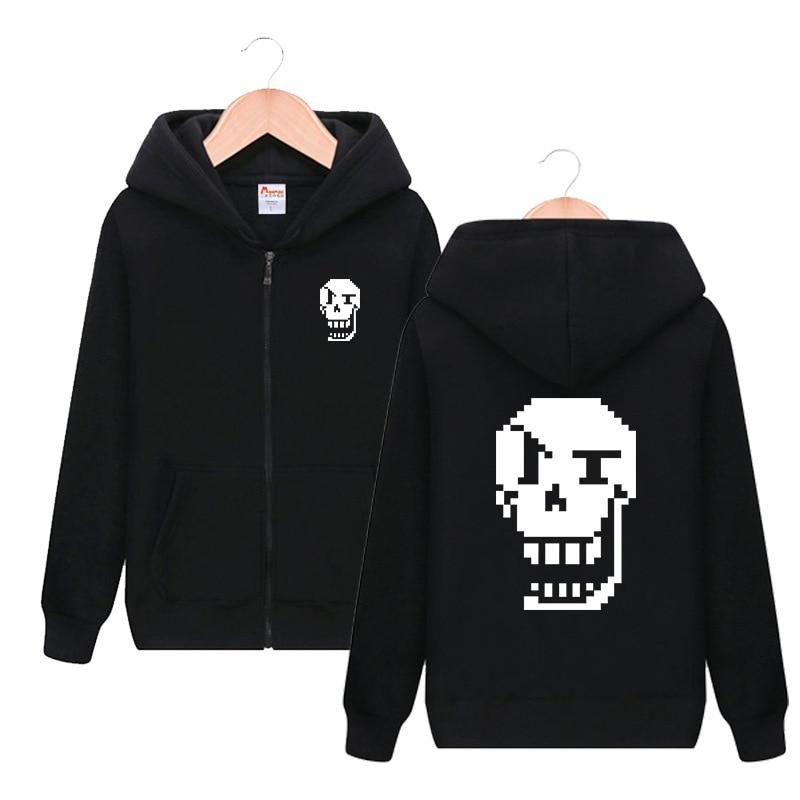 Undertale Sans Zipper Hooded Hoodie Cosplay Costume Men Women Casual Jacket Sweatshirt Fashion Streetwear