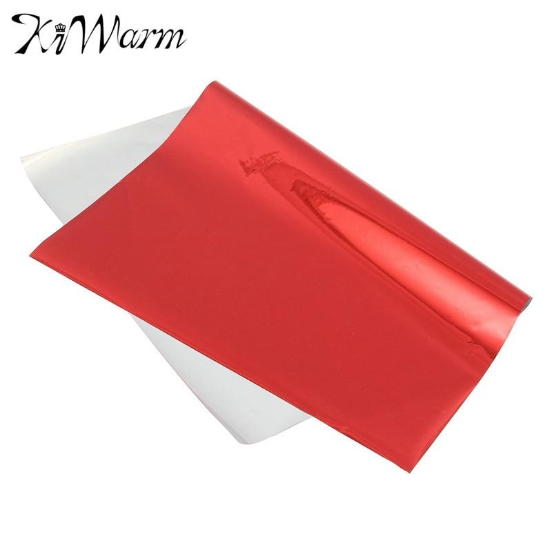 KiWarm 50Pcs A4 Red Hot Stamping Transfer Foil Paper Laminator Laminating Laser Printer Business Card DIY Craft Supplies 20*28cm