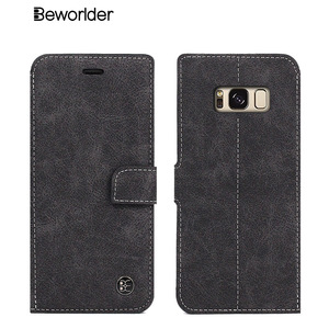 Beworlder For Samsung Galaxy S8 Case S8 Plus Case Vintage Card Slot Phone Wallet Stand Leather Case Cover For Samsung S8