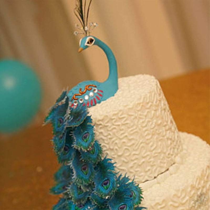 Peacock Peafowl Bird Novelty Cake//Cupcake Topper Decoration On Edible Rice Paper