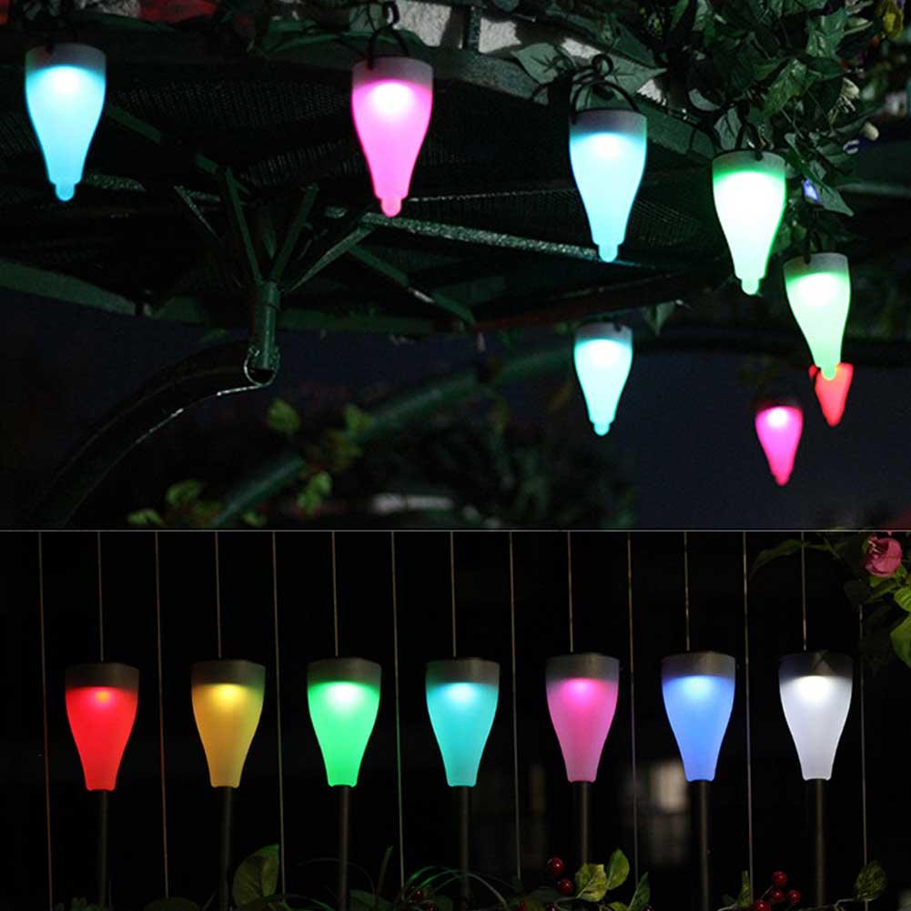 Outdoor 1pc Color Changing Led Light Sensor Solar Light