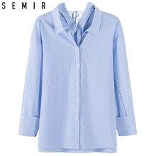 SEMIR Shirtss long sleeve shirts blouse for Women 2018 New Fashion stripe 100% C