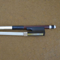 4/4 Size 910V D.peccatee Master Pernambuco VIOLIN BOW Nice Quality Ebony and Horsehair Silver Fittings