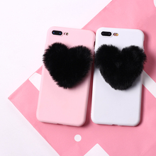 Cute Fluffy Heart phone case N.1 For iPhone and Samsung